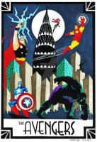 Art Deco Avengers by sammwah