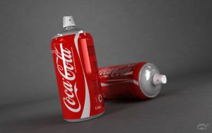 Coca Cola Spray Can by marazmuser