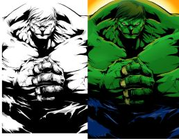 Hulk color practice by LuckyNap