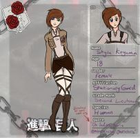 Attack on Titan Character Sheet by XcrazyBloodsuckerX