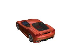 1st Car in 3DS Max - Rear View by prox3h