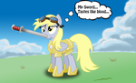 Derpy the war hero by ohthatandy