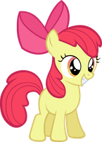 Apple Bloom- Smiling adorably. by LilCinnamon