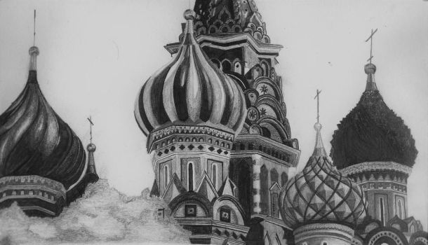 St Basil's, Red Square by Joee44