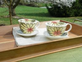 Tea Cup and Saucer Set by YousungChoiPottery
