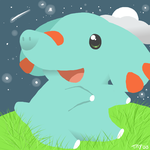 Phanpy's Starry Night by drill-tail