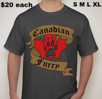 Canadian Furry T-shirt orders by Mist-Fang