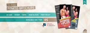 Trifold Fitness Gym Brochure PSD by MaxieLindo