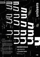 Typographics Project - Univers Poster Final Choice by Lisa-Marie-Farrell
