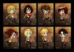 Attack on Titan - Chibi Mini-Prints by cute-loot