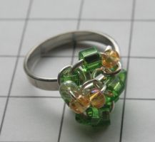 Green Glass Cocktail Ring by MoreThanNothing