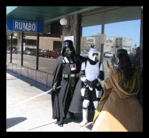 Vader and the scout trooper by Darkside0326