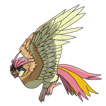 The most dramatic Pidgeotto by Darkfury1087