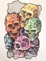 Colourful Skull Fun by Katakalysmic
