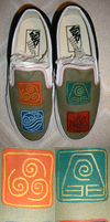 Avatar Shoes by one-crazy-fox