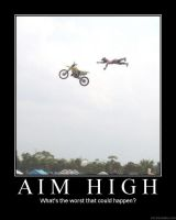 Motorbike Posters-Aim High by Eccles116