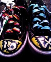 NOFX Shoes by XxSilverAndColdxX
