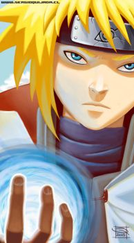 - 4th Hokage Rasengan - by sergio-quijada