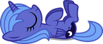 Sleeping Luna Filly by imageconstructor