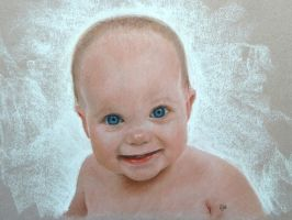 Baby Charlotte in pastel by SteveHargreaves