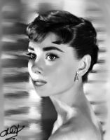 Audrey Hepburn by darkonelh
