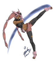 Graceful Kick by Archtemplar