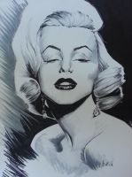 Marilyn Monroe commission by zachraw