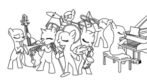 mlp Band base by meowmew3