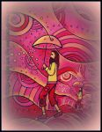 oldpaintingrevisited santos with umbrella in red by santosam81