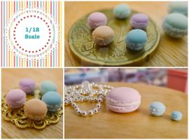 1/12 scale macarons by LittlestSweetShop