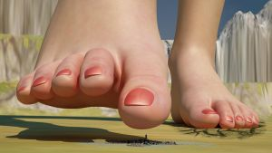 Giga Bea- Feet View POV by Giantess-Beatrice