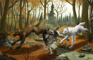 Autumn Run - Commission by KeksWolf