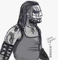Jeff Hardy Sketch Commission by wild7even