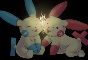 Plusle And Minun by Pokemon-Chick-1