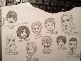 Game of Thrones fan doodles by Ashiwa666