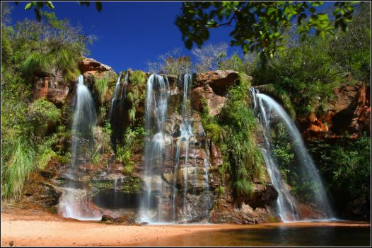 Sunny waterfall by naturellement-votre