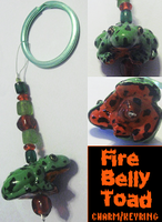 Fire-Belly Toad charm by HollieBollie