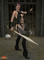 Kay Leather And Sword P8 GI by Latexluv