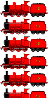Eagle the Red Engine (Sprite Sheet) by JamesFan1991