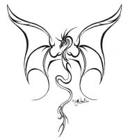lined dragon tattoo 2 by noot