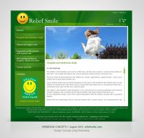 Webdesign for Relief Smile by Amita-Gandhi