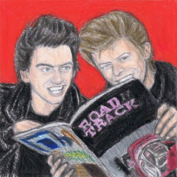 George Harrison and David Bowie 2 by gagambo