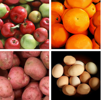 Potatoes, Apples, Oranges seamless patterns by CloudOven
