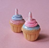 Cotton Candy Birthday Cupcake by FatallyFeminine