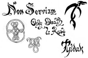 tattoo thingies by librarian-of-hell