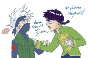 Gai vs Kakashi - kids by gummypocky