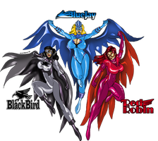 Winged Trio by Jaime Molina by grumpygrimone