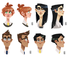 Main characters busts by FattCat