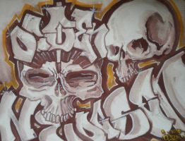 ocsen watercolor skulls by Signevad