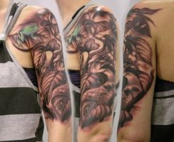 Leaves for the froggy by viptattoo